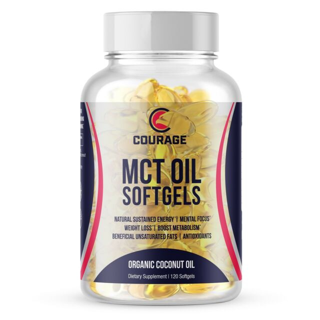 MCT Oil Softgels Capsules - Keto Diet Premium C8 C10 MCT Coconut Oil