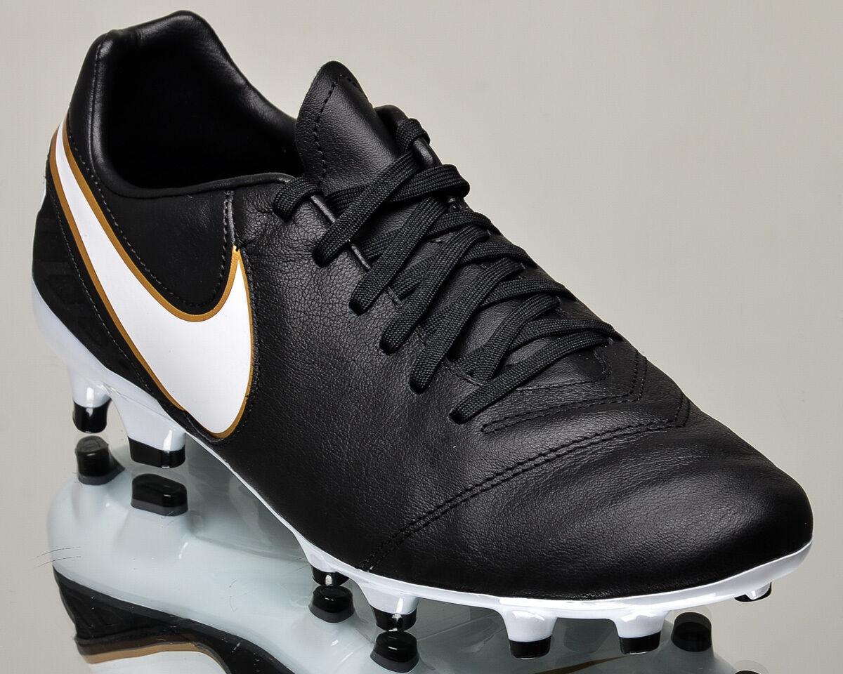 Nike tiempo mystic / fg 5 uomini gli scarpini da calcio football nuovo oro nero 819236-010