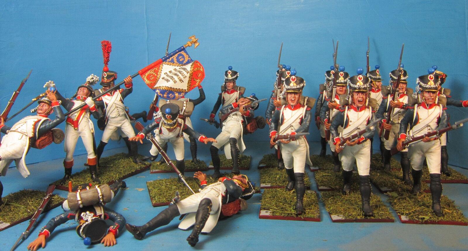 Napoleonkrigen {65533;gry 6553333; Franska infanteriet från 18 e linjen {SHIELD 5533;65533; 60mm Hög metallfigur