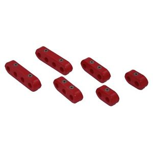 New-Red-Spark-Plug-Ignition-Lead-Wire-Separators-Holders-Set-6-Suit-7-9mm