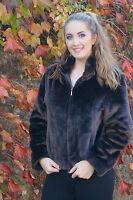 Brown Faux Fur Coat Size 14 - Winter Wear Faux Fur Coat From Bhs