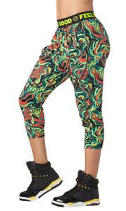 Zumba Fitness Zumba Harem Capri Pantalon Sport Femme dEntra/înement Dance Fitness Haute de Surv/êtement Pants M Black BB