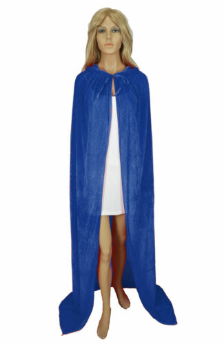 Medieval Velvet Hooded Cloak Wicca Long Robe Halloween Witchcraft Larp Capes AAA