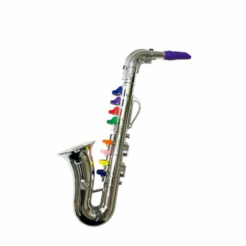 NEW Kids 8 Note Children/'s Silver Toy Saxophone Musical Instrument