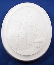 Meissen Unglazed Porcelain Albrechtsburg Scene Plaque Porzellan Bild Scenic