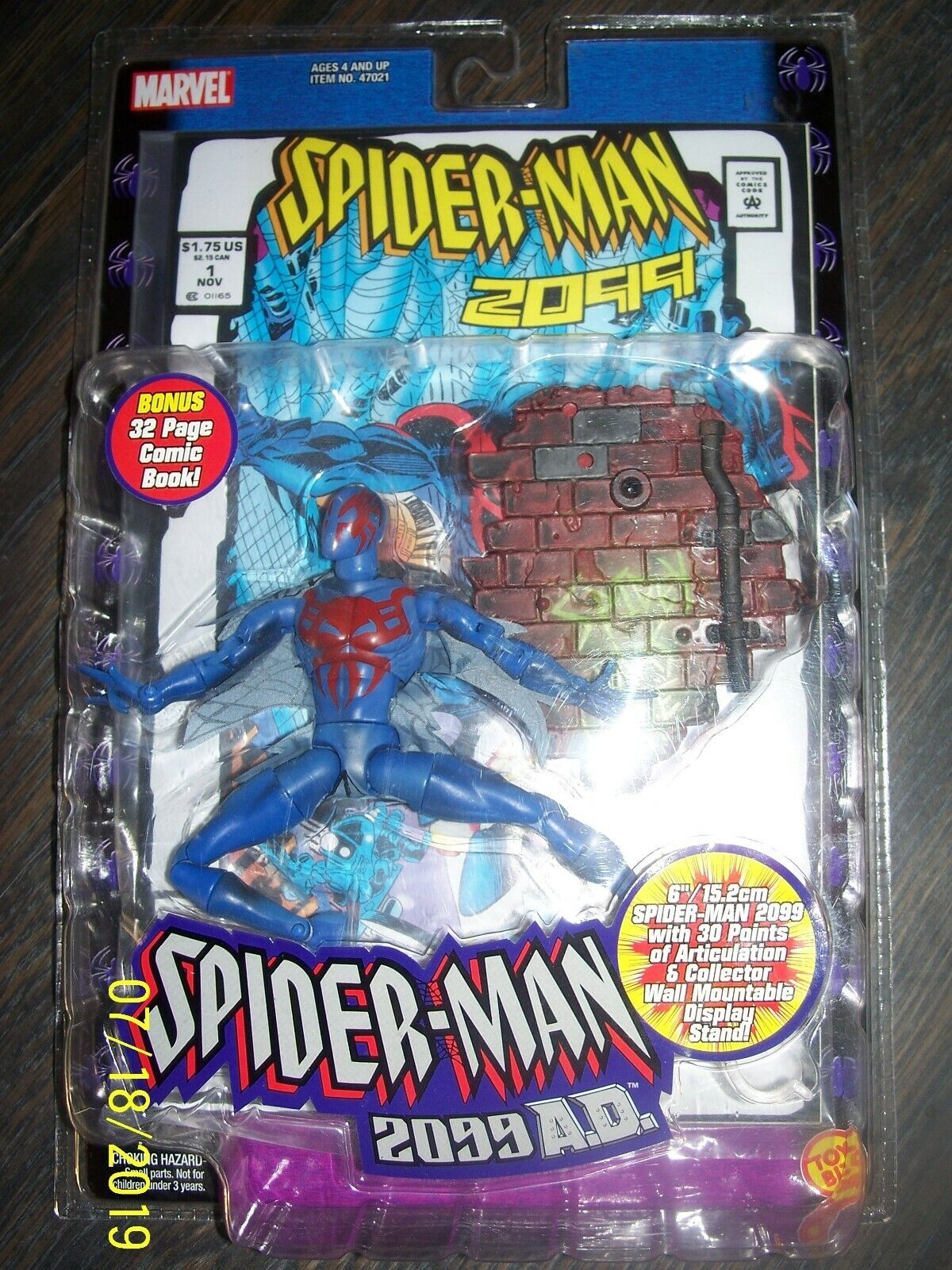 SPIDER-MAN 2099 TOYBIZ  FIGURE AND COMIC BRAND NEW SEALED  EXTREMELY RARE  NIB