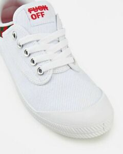 F-K-OFF-DUNLOP-VOLLEYS-International-Volley-Canvas-Mens-Shoes-White-Green-Red