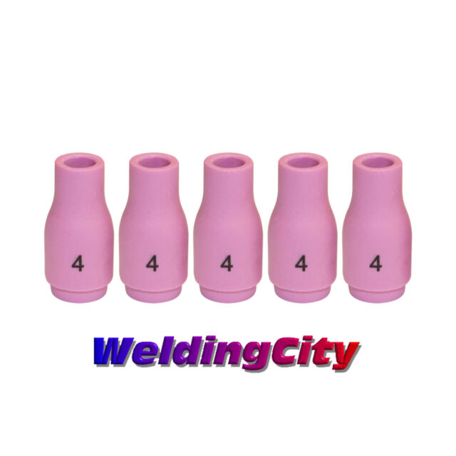 20 and 25 WeldingCity 5pcs TIG Welding Torch Standard Alumina Ceramic Cup Nozzles 13N09#5 for Torch 9