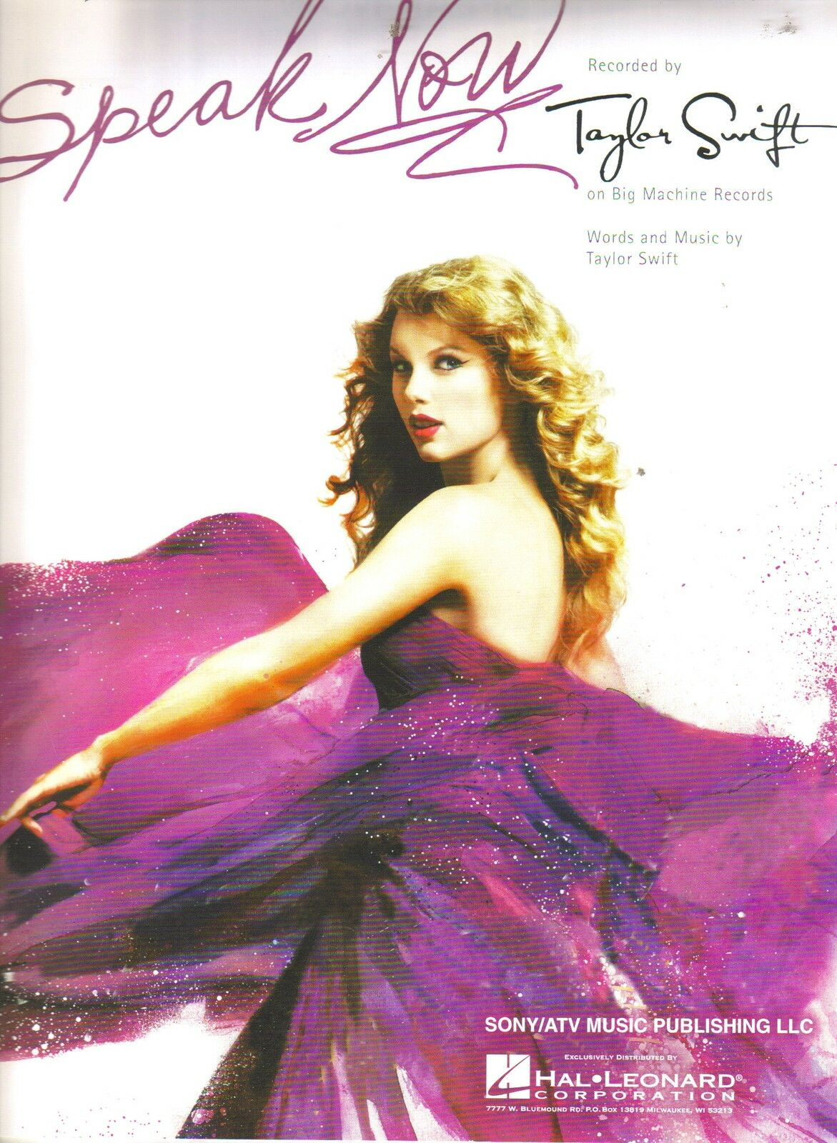Speak Now Song By Taylor Swift Piano Vocal Sheet Music Guitar Chords
