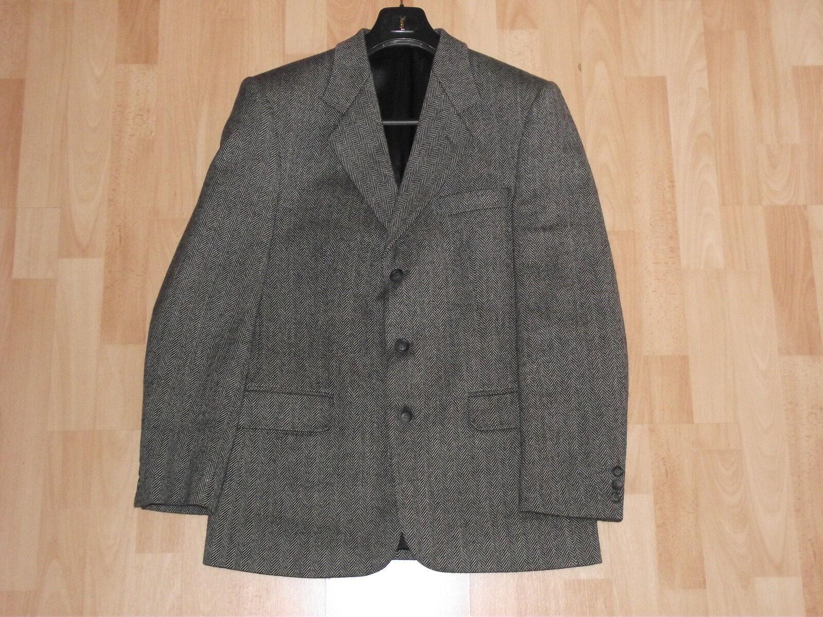 Wool Blazer, Grau, 42 inch chest