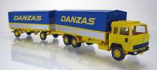 """Wiking 047501 Magirus 235 D Pritschenhängerzug """" Spedition Danzas """""""