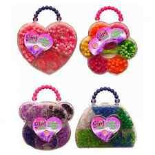 Mini Bead Jewellery Making Set Kit Acetate Case String Design Girls Art Crafts