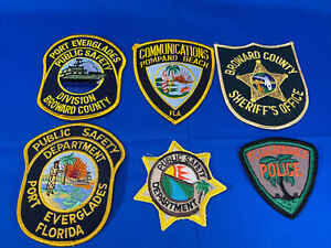 Various State Patches #22 Lot Of 6 Various Departments From United States
