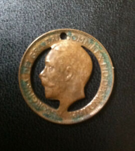 Details about GB George V farthing circa 1911 – Cut Out – Trench / Folk Art