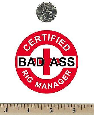 "2 ¾ "" Round Refrigerator Fridge Magnet Certified Bad Ass Geologist Red RM050"