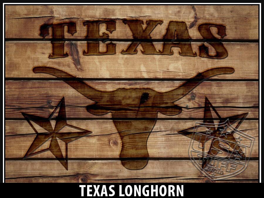 USATuff Custom Wrap 'Fits New Mold' RTIC 20QT FULL Texas Long Long Texas Horn Wood 00582f