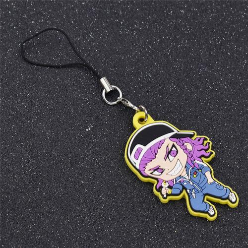 Cartoon Anime Danganronpa Trigge Rubber Keyring Keychain Bag Accessories Gifts