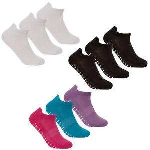 Ladies-Sport-Gym-Yoga-Non-Slip-Gripper-Sole-Trainer-Liner-Socks-3-Short