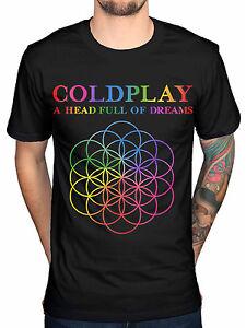 Coldplay A Head Full of Dreams Mens Black Cotton Top T-Shirt Tee ...