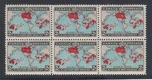 Canada-Sc-86b-MNH-1898-2c-Imperial-Penny-Postage-deep-blue-oceans-block-of-6