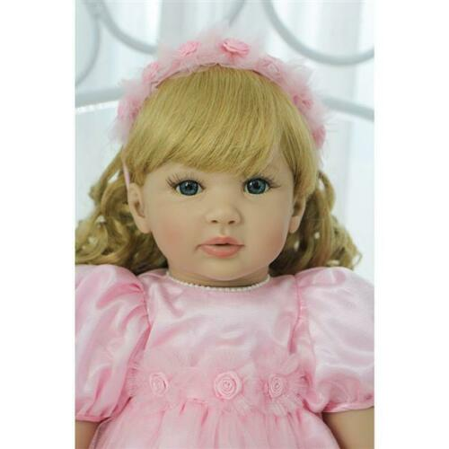 "US 24/"" Beautiful Simulation Long Hair Girl Wearing a Deer Dress Doll Toys Gift"