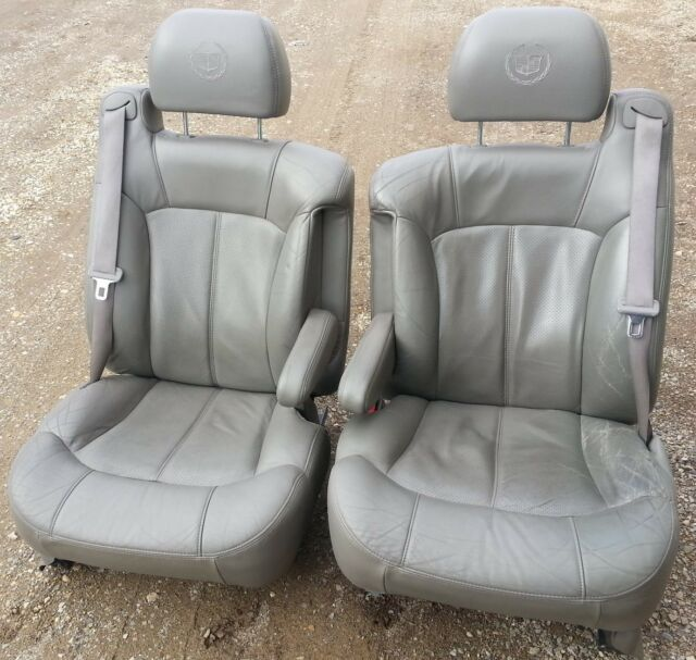 00 01 02 Cadillac Escalade ESV Front Gray Leather