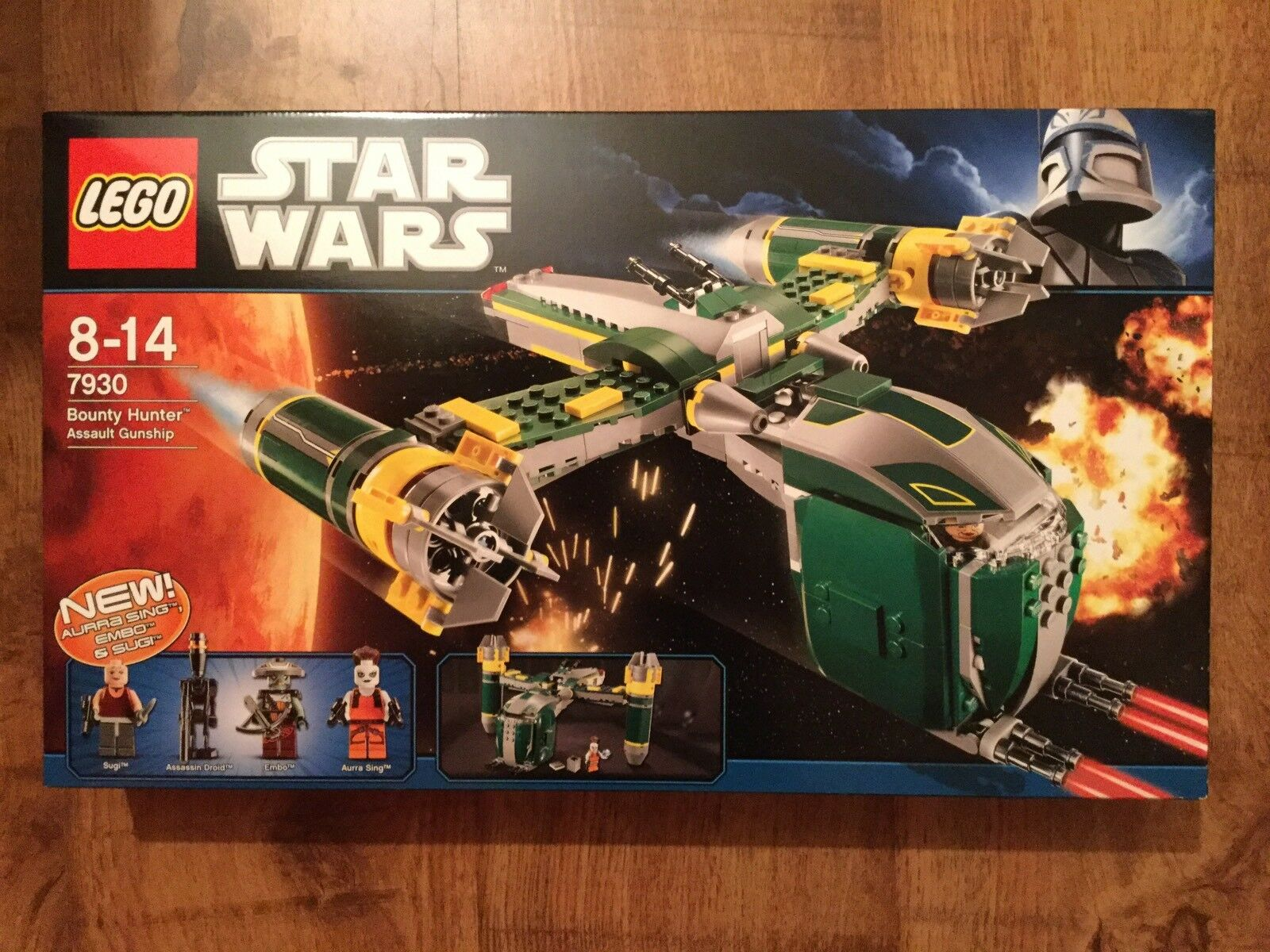 Lego 7930 Star Wars Bounty Hunter Assault Gunship OVP MISB