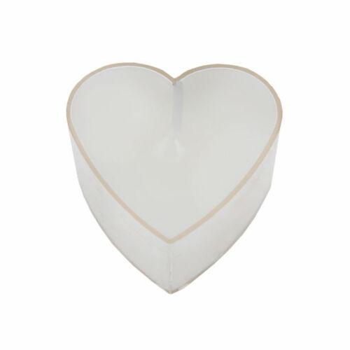 Teelichte Herz Form Farben je 4 Stück in div Herzkerzen Hochzeit Verlobung