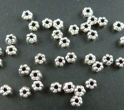 1000pcs Tibetan Silver Little Daisy Spacer Beads 3x2mm 1304