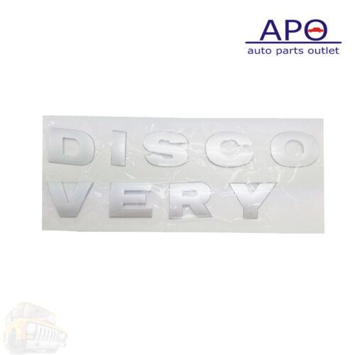 Hood Lettering Name Plate Land Rover Discovery LR4 LR3 Grey LR051555 LR051556