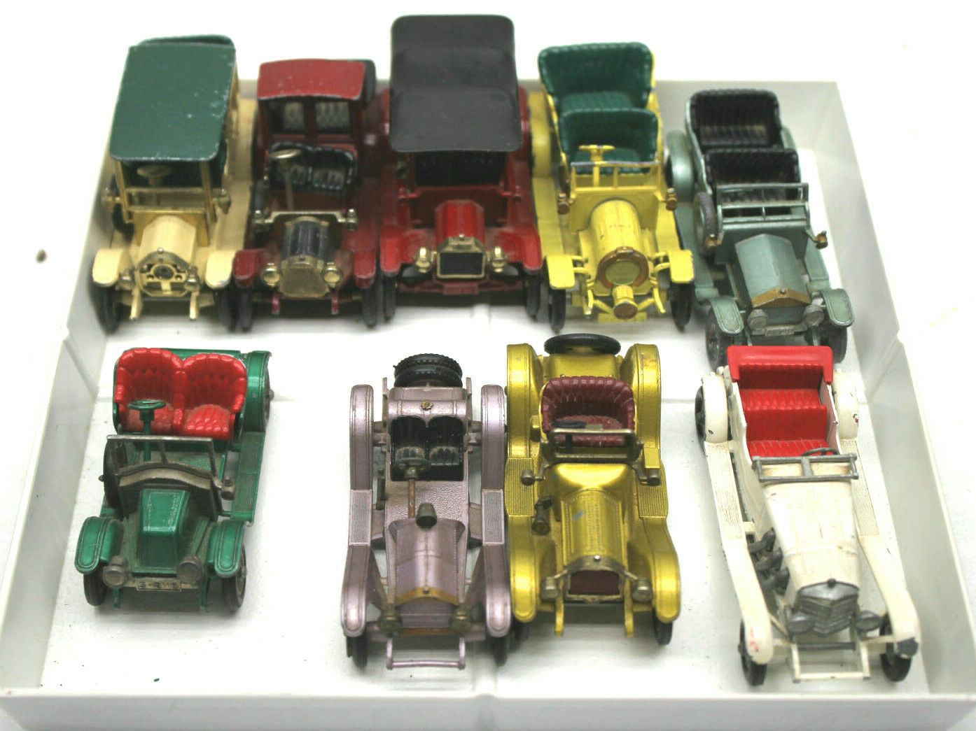 9pc 1960s Matchbox Models of Yesteryear Diecast Cars Mercor, Cadillac Renault+++
