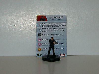 Agent of SHIELD set Agent Ward #012 Common figure w//card! Heroclix Nick Fury