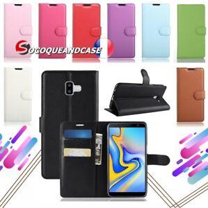 Etui-coque-housse-Cuir-PU-Leather-wallet-case-pour-Samsung-Galaxy-J6-2018