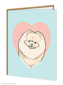 Image Is Loading Pomeranian Dog Lovers Birthday Greeting Cards Brainbox Candy