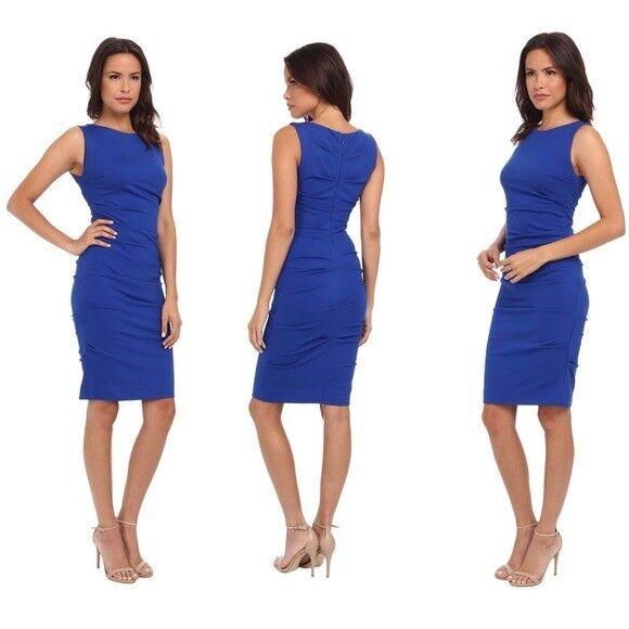 b3c7816cbc8 Nicole Miller Artelier 8 Dress Ruched Stretch Bodycon Royal Blue Lauren for  sale online