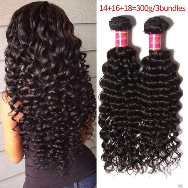 Nadula 3 Bundles Brazilian Deep Wave Curly Hair 100 Human Hair