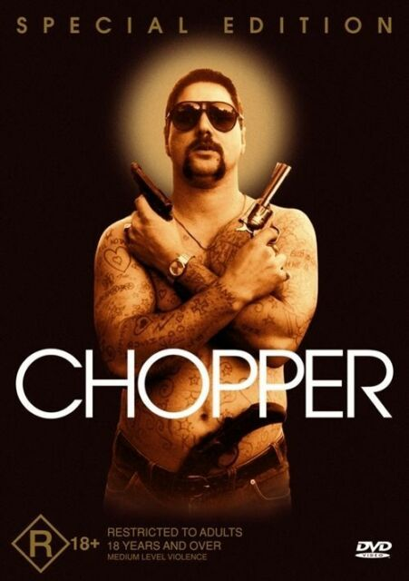 Chopper DVD Region Four R4 FastNFree Mark Brandon 2000 Dust Jacket Sleeve
