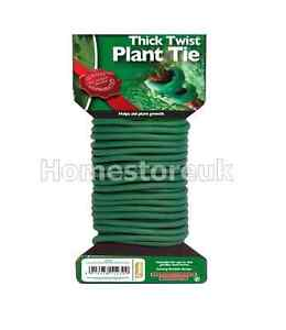 4-8-METRE-SOFT-FLEXIBLE-THICK-TWIST-AND-TIE-SUPPORT-GARDEN-PLANT-WIRE-TWINE-TT1T