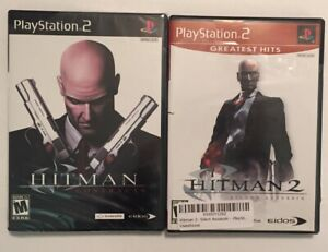 Hitman-Contracts-and-Silent-Assassin-PlayStation-2-PS2-Two-Game-Lot