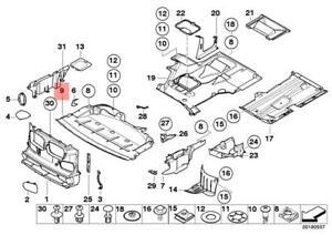 Genuine BMW E39 Sedan Engine Splash Shield Undercar Front OEM 51718159981    eBayeBay