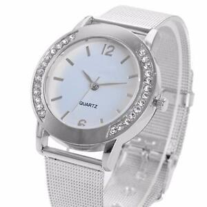 Fashion-Women-Crystal-Silver-Stainless-Steel-Analog-Quartz-Wrist-Watch