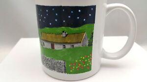 Eric-Mohn-Wondermugs-Cottage-With-Colorful-Stars-In-Night-Sky-Coffee-Tea-Mug