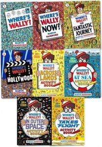 NEW Where's Wally? Wow! 8 Books Activity Set Amazing Adventures Martin Handford!