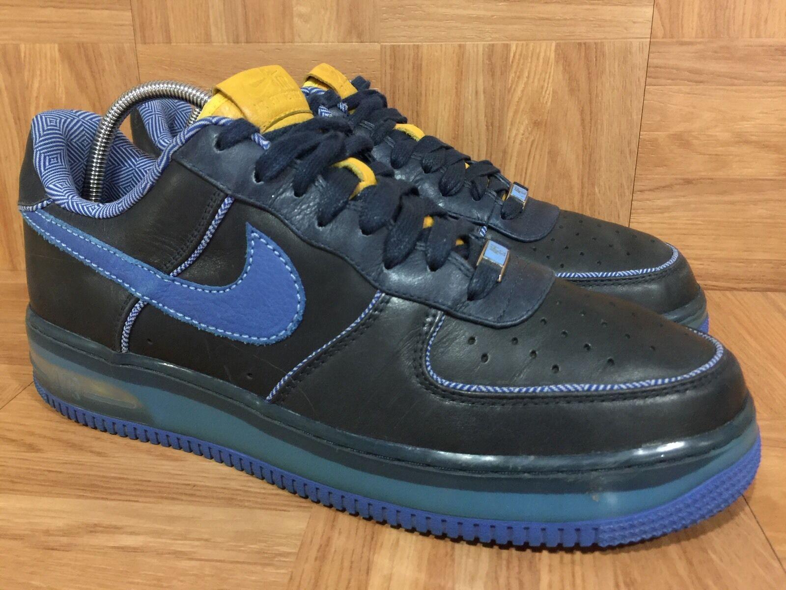 RARE� Nike Air Force 1 Supreme Max Air 07 London Edition Obsidian 11 316666-441