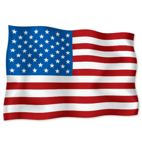 "USA American Flag car bumper sticker decal 6/"" x 4/"""