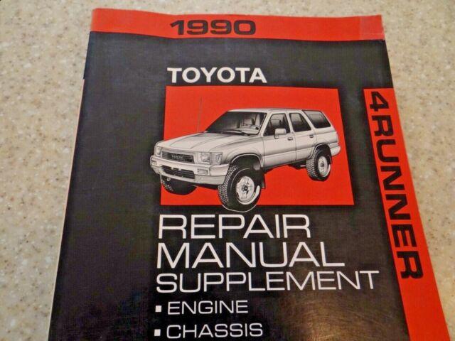 1990 Toyota 4runner Repair Manual Supplement Original