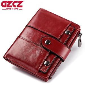 Women-Genuine-Leather-Cowhide-Clutch-Bifold-Wallet-Credit-Card-ID-Holder-Purse