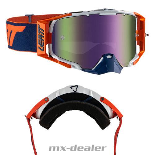 Leatt Velocity 6.5 Iriz Orange Crossbrille verspiegelt Enduro Motocross Brille