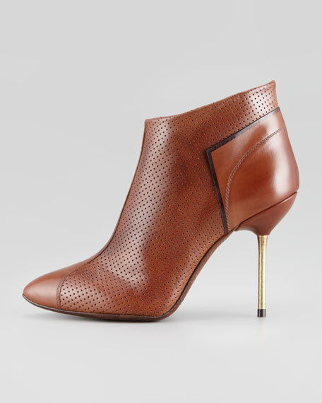 Pedro Garcia Rowan Perforated Saddle Leather Bootie Bootie Bootie 7709 Size 7.5 M ee8f33