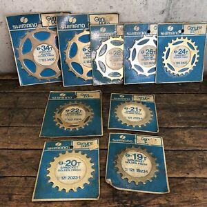 Vintage-Shimano-Freewheel-Sprocket-Gold-Skip-Tooth-Lot-NOS-19-20-21-22-24-32-34